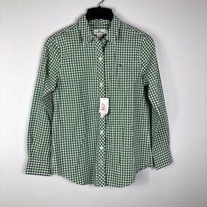 Vineyard Vines Gingham Cotton Relaxed Blouse